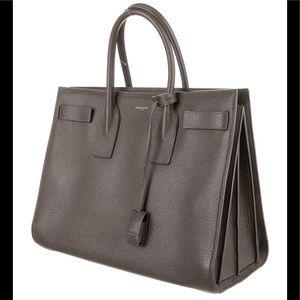 Saint Laurent Large Sac de Jour, gray leather